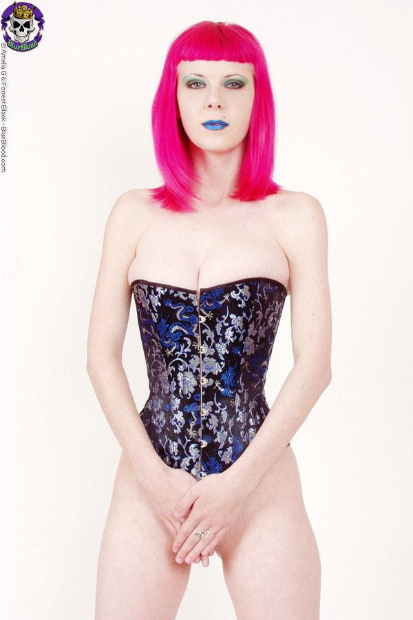 szandora blue dragons corset