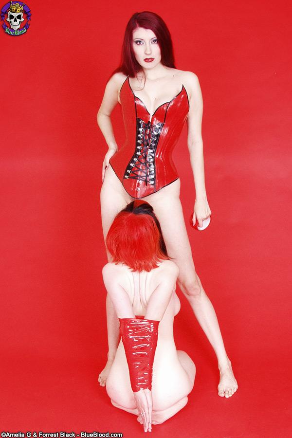 rubber dollies red tape bondage szandora yolanda